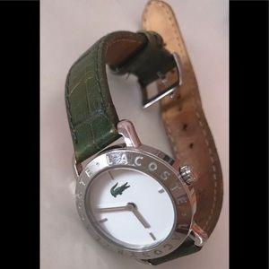 Lacoste Women's Leather watch, Green